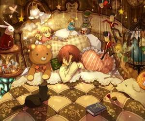 anime, bed, and toys image