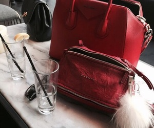 fashion, red, and bag image