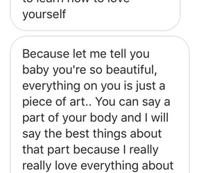 art, cute text, and I love her image