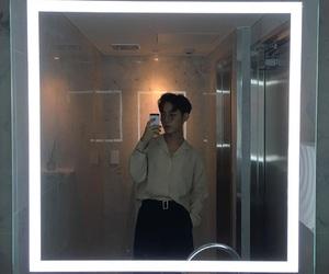 boy, ulzzang, and mirror image