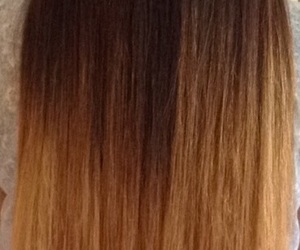 hair, long brown hair, and ombre hair image
