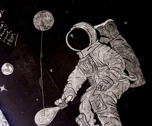 and, art, and astronaut image