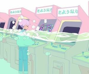 pastel, art, and arcade image