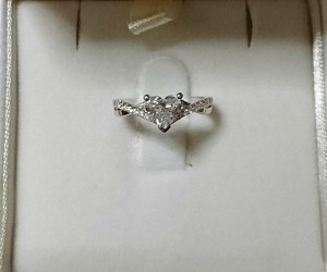 engagement ring, bride to be, and diamond heart image