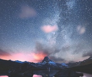 clouds, galaxy, and water image