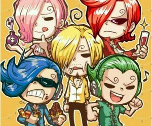chibi, one piece, and sanji image