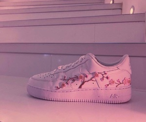 flowers, girl, and nike image