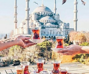 istanbul, travel, and tea image