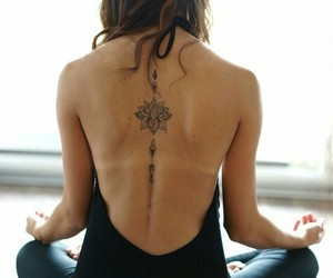back, meditation, and tattoo image