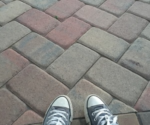 cobblestone, converse, and shoes image