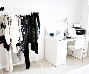 room, white, and clothes image