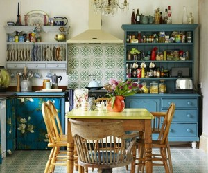 eclectic, home decor, and kitchen image