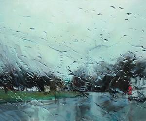 rain, rainy, and driving in the rain image