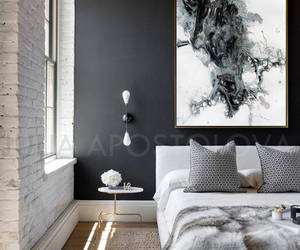 Abstract Painting, bedroom, and etsy image
