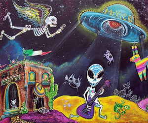 alien, angel, and day of the dead image