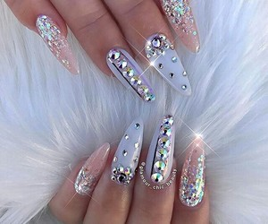 nails, diamond, and beauty image