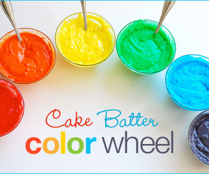 cake, color, and rainbow image