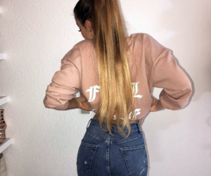 bomber, pink, and fashion image
