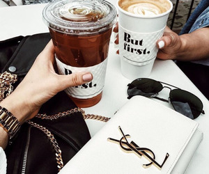 coffe, girls, and shopping image