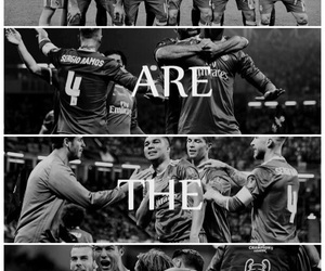 12, black and white, and real madrid image