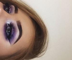 eye makeup, eyebrows, and eyeliner image