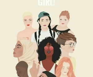 girl, woman, and feminism image