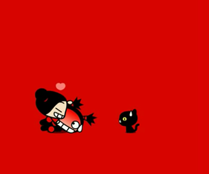 pucca, love stories, and cute image