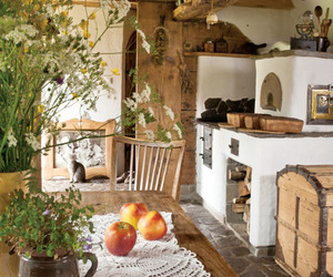 kitchen, home, and rustic image