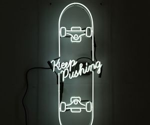 neon, light, and skate image