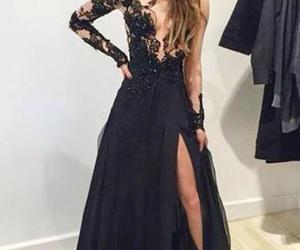 dress, black, and evening dress image