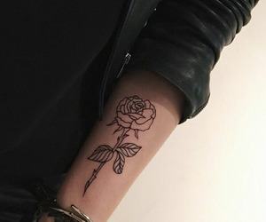 rose, tattoo, and tumblr image