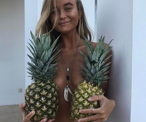 summer, pineapple, and girl image