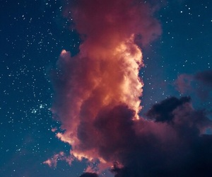 wallpaper, stars, and clouds image