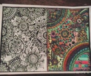 art, colores, and zentangle art image