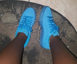 blue, puma, and shoes image