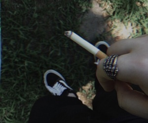 aesthetic, cigarette, and green image