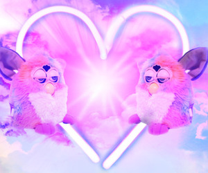 furby, heart, and pink image
