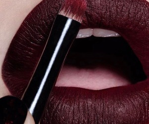 lipstick, makeup, and lips image