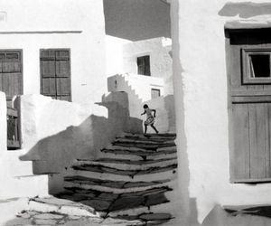 Greece, black and white, and photography image