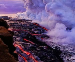 volcano, hawaii, and landscape image