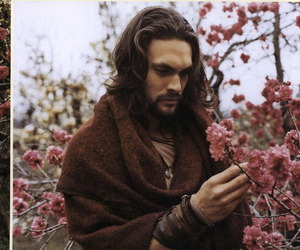 jason momoa, flowers, and game of thrones image