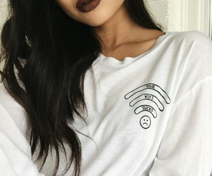 beauty, brown, and lips image