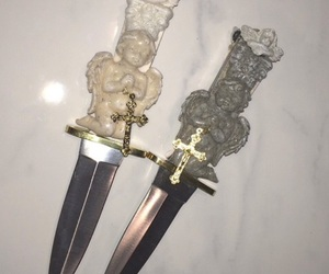knife, angel, and pale image