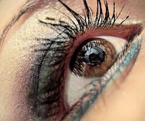 beautiful, eyes, and make image