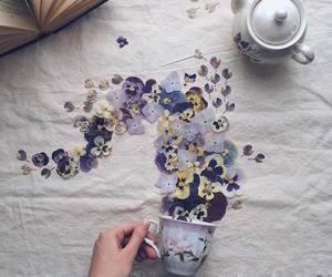 flowers, art, and tea image