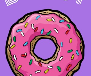 donut, homer, and wallpaper image