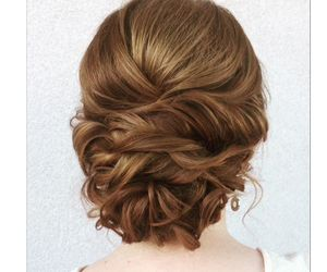 bride, hair, and heart image