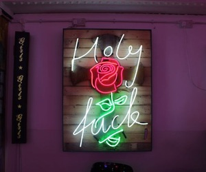 neon, rose, and light image
