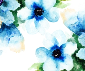 watercolor, background, and blue image