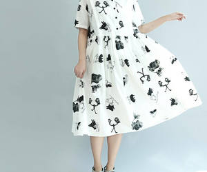 etsy, white dress, and cottondress image